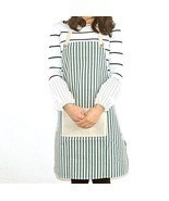 Professional Linen Apron Unisex Restaurant Chef Kitchen Apron with Sturd... - $20.87 CAD