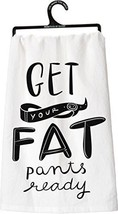 NEW Primitives by Kathy Fat Pants Tea Towel, 28-Inch by 28-Inch - $14.68