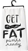 NEW Primitives by Kathy Fat Pants Tea Towel, 28... - $14.68