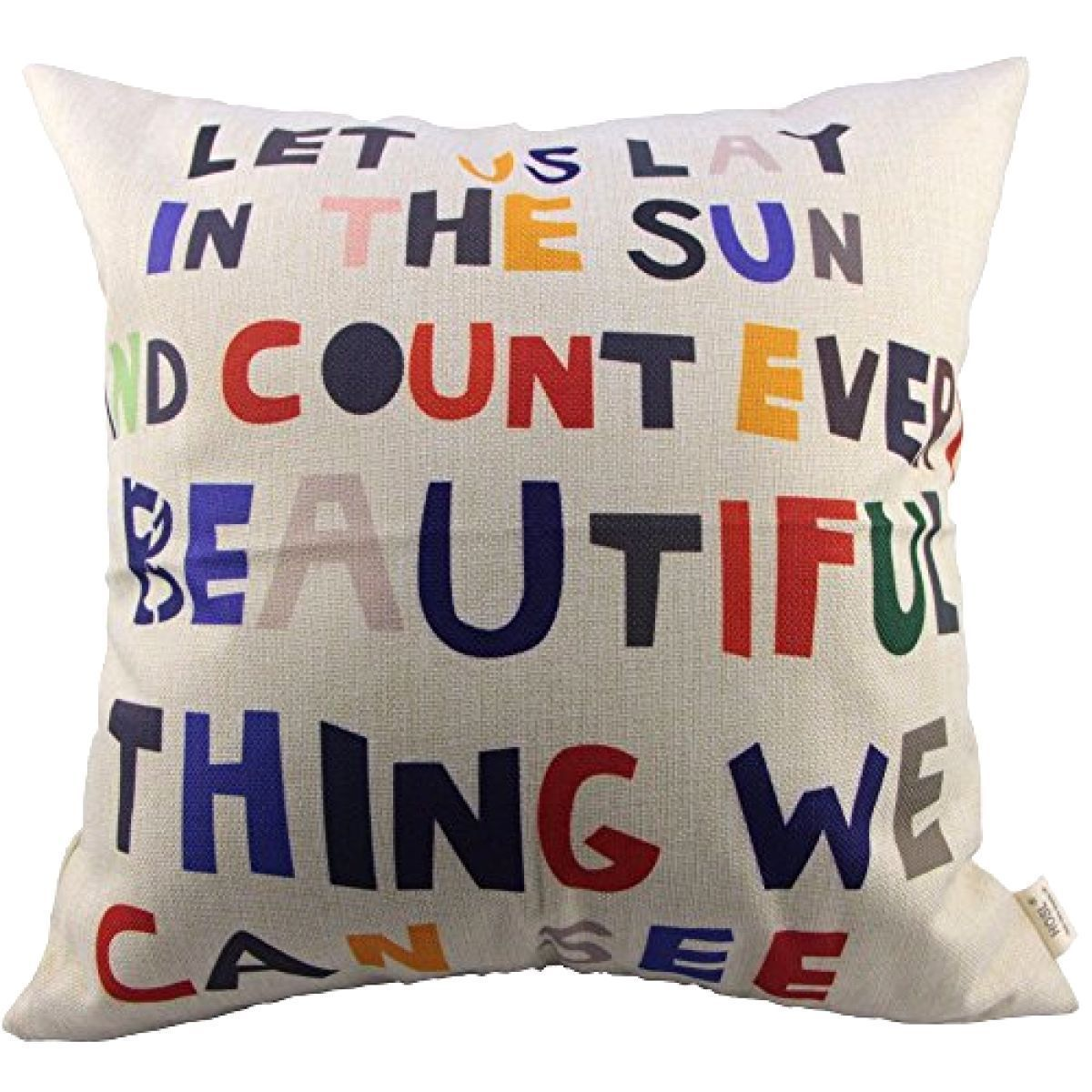 HOSL Meaningful Quotes Colorful Letters Throw Pillow Case Decor Cushion Covers S