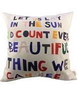 HOSL Meaningful Quotes Colorful Letters Throw Pillow Case Decor Cushion ... - £8.65 GBP