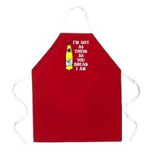 new Attitude Apron I'm Not As Think Apron, Red, One Size Fits Most - $9.20
