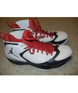 New Nike Air Jordan 2012 Q White/Red/Black sz 1... - $65.43