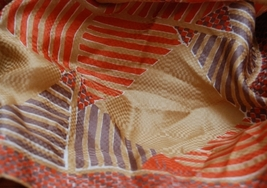 "Vintage Vera Silk Scarf 21"" square Pumpkin Gold Brown - $15.00"