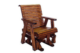 Quality Lowback Glider / Gliding Chair Real Wood Patio Outdoor Made In USA! - $668.25