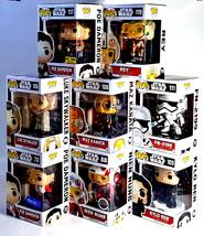 Funko POP STAR WARS The Force Awakens Set of 8 w/ EXCLUSIVES Poe Nien Nu... - $162.50