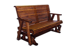 5' Quality Lowback Glider Bench - Real Wood - Made In USA! - $826.65