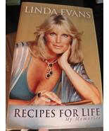 Linda Evans Book Signed Autograph NEW Recipe for Life Includes Recipes - $20.00