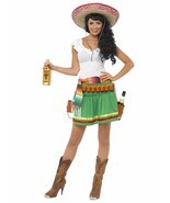 Smiffys Tequila Shooter Girl Mexico Cinco De Mayo Womens Halloween Costu... - $42.36