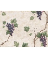 Red Grape Leaf 893VC Wallpaper - $42.99