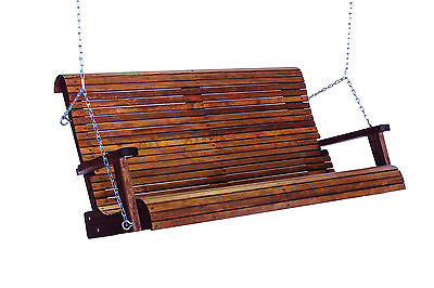 6' Quality Highback Swinging Bench Seat - Real Wood - Made In USA!