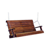 6' Quality Highback Swinging Bench Seat - Real Wood - Made In USA! - $836.55