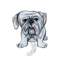American Bulldog Dog Wagging Pendulum Clock - $41.99