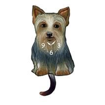 Silky Terrier Dog Wagging Pendulum Clock - $41.99