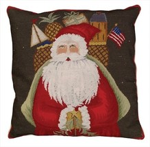 Santa with Gifts Decorative Pillow - $150.00