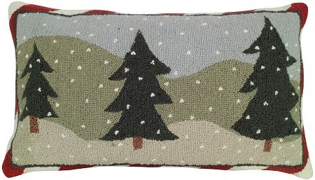3 Trees Decorative Pillow