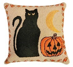 Black Cat & Pumpkin Decorative Pillow - €67,10 EUR