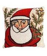 Western Santa 18 x 18 Hand Hooked Pillow - $60.00