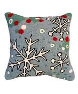 Snowflake Blue Field Decorative Pillow - $80.00