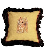 Yorkie Decorative Pillow - $100.00