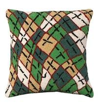 Argyle 18 x 18 Hooked Decorative Pillow - $60.00