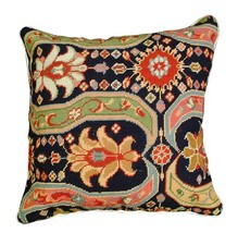 Afshar 18x18 Needlepoint Decorative Pillow - $140.00