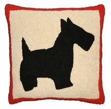 Scottie 18x18 Hand Hooked Decorative Pillow - $60.00