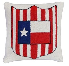 Texas Flag and Shield Decorative Pillow - $60.00