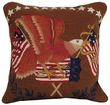 Eagle With Flag Decorative Pillow - $160.00