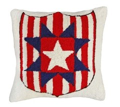 Star and Shield Decorative Pillow - $60.00