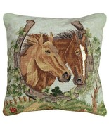 Horseshoe & Clover 18X18 Petipoint Pillow - $160.00