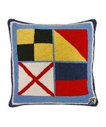 Nautical Love 18x18 Hooked Pillow - $60.00