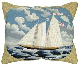 America 16x20 Needlepoint Pillow - $190.00