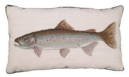 Rainbow Trout Decorative Pillow - $180.00