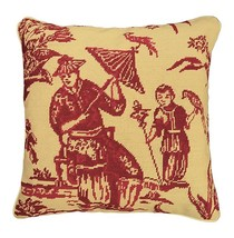 Boy with Bird 18x18 Needlepoint Pillow - £107.26 GBP