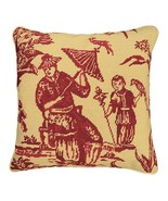 Boy with Bird 18x18 Needlepoint Pillow - $140.00