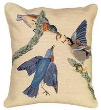 Eastern Bluebird Decorative Pillow - $160.00