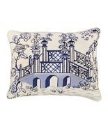 Blue Bridge 16x20 Needlepoint Pillow - £100.94 GBP