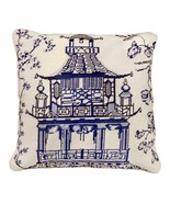 Blue Pagoda 18x18 Needlepoint Pillow - $140.00