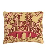 Red Bridge 16x20 Needlepoint Pillow - $140.00