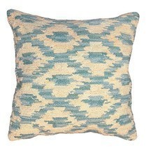 Ikat Peacock Decorative Pillow - £64.08 GBP