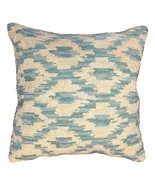 Ikat Peacock Decorative Pillow - £60.72 GBP