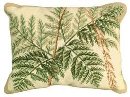 Fern - Helene Verin 16x20 Needlepoint Pillow NCU-111 - $140.00
