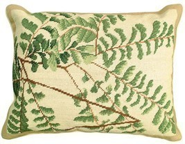 Fern - Helene Verin 16x20 Needlepoint Pillow NCU-110 - £112.15 GBP