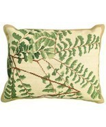 Fern - Helene Verin 16x20 Needlepoint Pillow NCU-110 - ₨10,106.87 INR