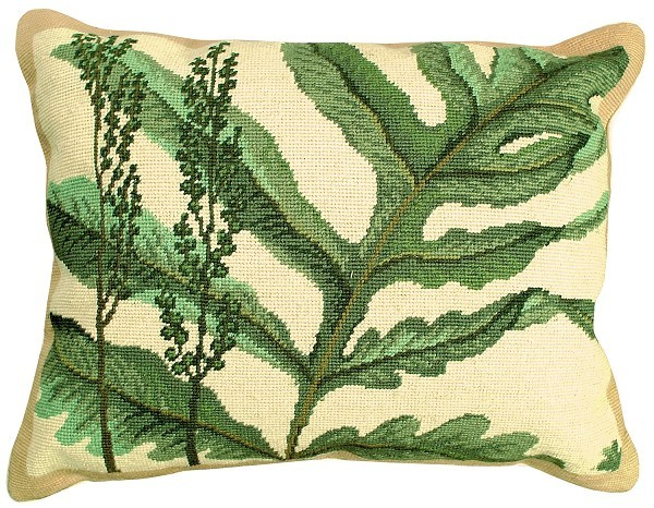 Fern - Helene Verin 16x20 Needlepoint Pillow NCU-109