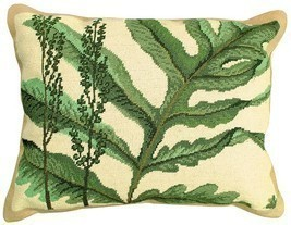 Fern - Helene Verin 16x20 Needlepoint Pillow NCU-109 - ₨9,376.55 INR