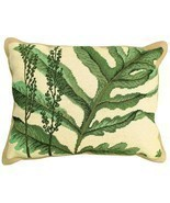 Fern - Helene Verin 16x20 Needlepoint Pillow NCU-109 - ₨10,106.87 INR
