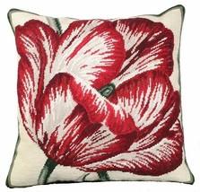 Large Tulip 18x18 NeedlePoint Pillow - $140.00