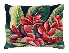Plumeria 16 x 20 Needlepoint Pillow - $140.00